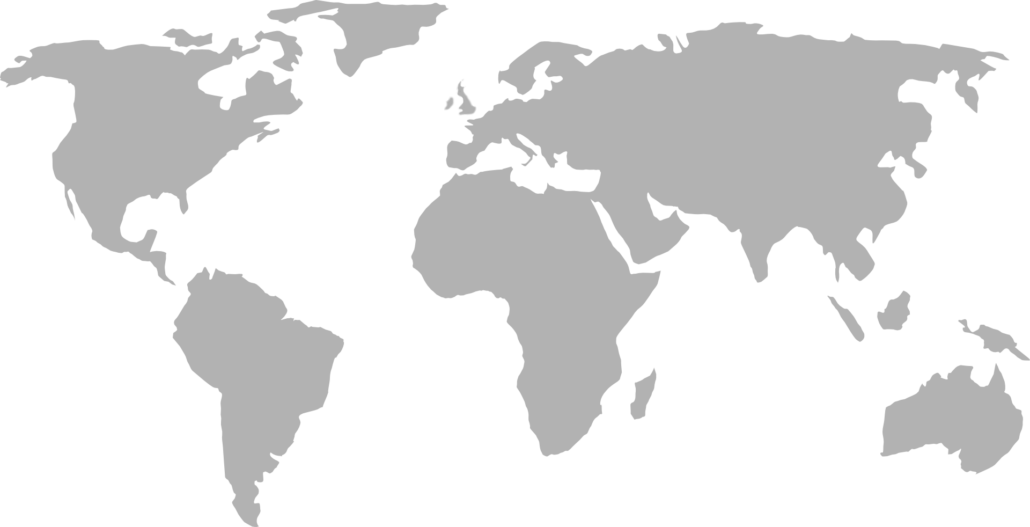 A map of the globe highlighting Syscon offices in North America, Europe, and Australia